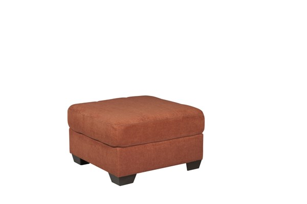 Delta City Contemporary Rust Wood Fabric Oversized Accent Ottoman 1970108