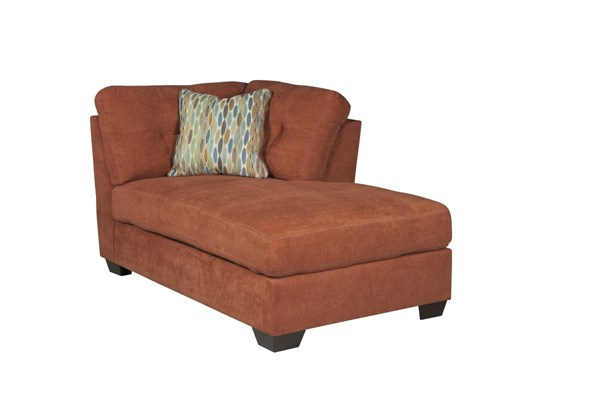 Delta City Contemporary Rust Wood Fabric RAF Corner Chaise 1970117
