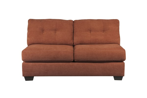 Delta City Contemporary Rust Wood Fabric Armless Loveseat 1970134