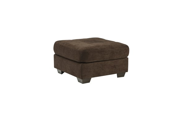 Delta City Contemporary Chocolate Wood Fabric Oversized Accent Ottoman 1970208