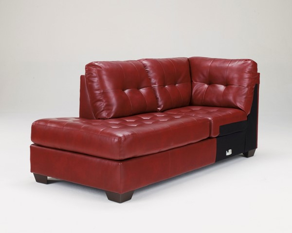 Alliston DuraBlend Salsa Leather PVC LAF Corner Chaise 2010016