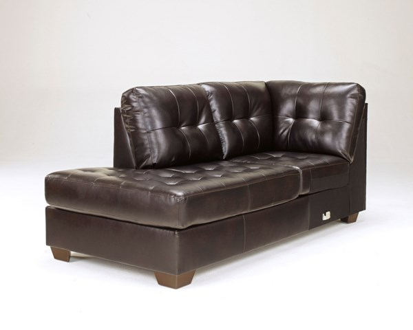 Alliston DuraBlend Chocolate Leather PU LAF Corner Chaise 2010116