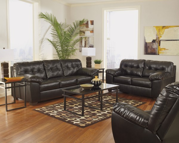 Alliston DuraBlend Chocolate / Salsa Leather PVC Living Room Set 2010-LR