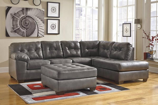 Alliston DuraBlend Contemporary Gray Sectional w/RAF Corner Chaise 2010217-SEC