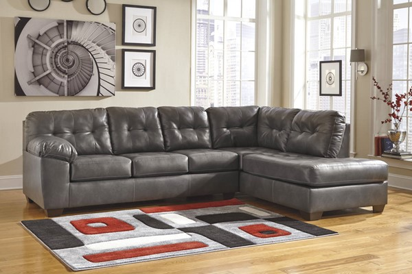Ashley Furniture Alliston Durablend Gray Raf Corner Chaise