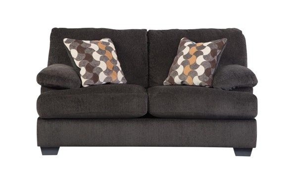 Kenzel Contemporary Charcoal Fabric Loveseat 2040135