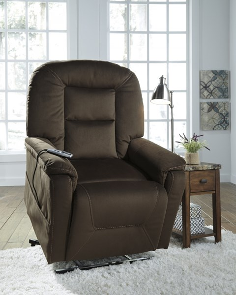 Samir Contemporary Coffee Fabric Power Lift Recliner 2080112