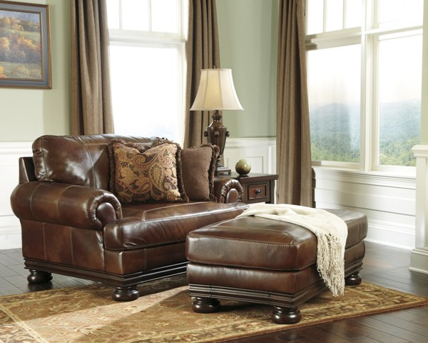 Hutcherson Harness Leather Chair with Ottoman 2110023-14