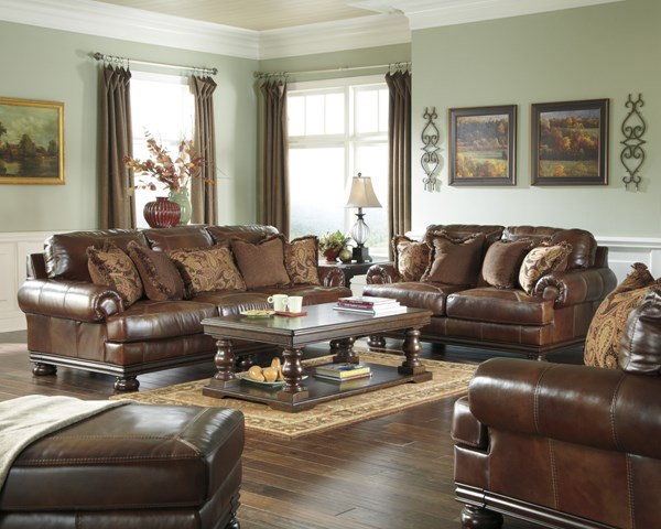 Hutcherson Harness Leather 4pc Living Room Set 21100-LR-S1