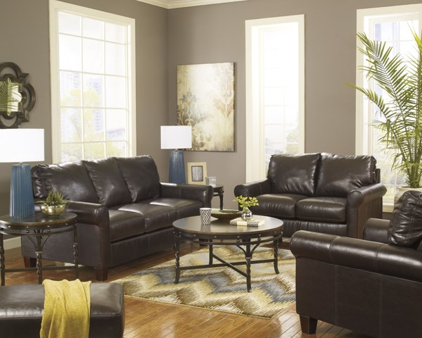 Nastas DuraBlend Bark Leather Polyurethane  Living Room Set 23300-LR