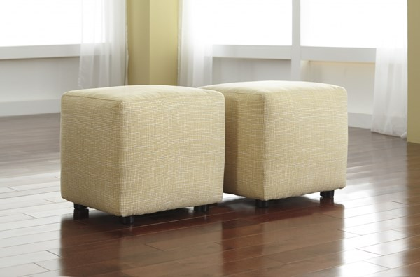2 Chamberly - Alloy Fabrics Cube Ottomans 2430213
