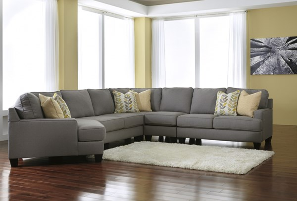 Chamberly Contemporary Alloy Wood Fabric Cushion Back Sectionals 24302-76-VER-1
