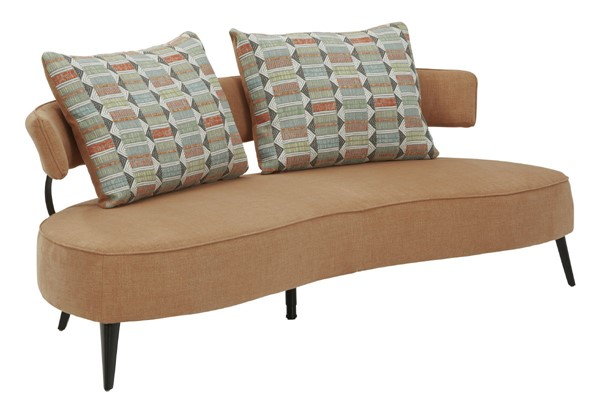 Ashley Furniture Hollyann Contemporary Rust RTA Sofa 2440138