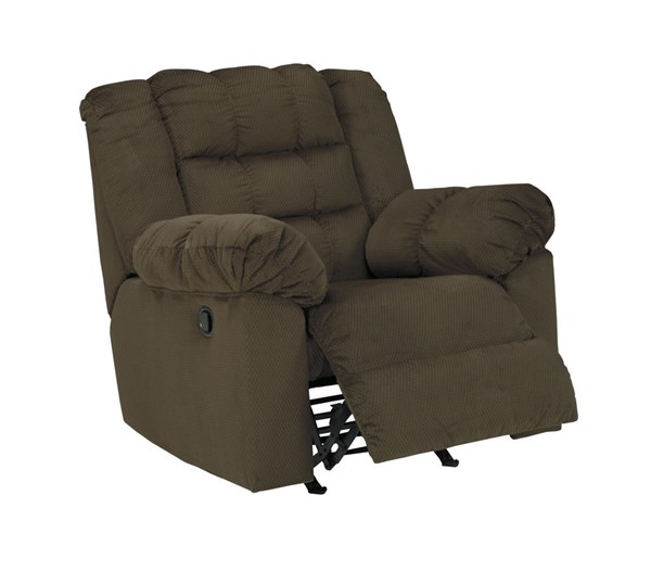 Mort Contemporary Umber Fabric Rocker Recliner 2610425