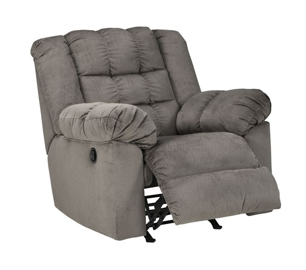 Mort Contemporary Charcoal Fabric Rocker Recliner 2610525