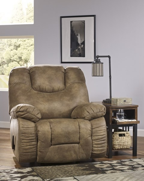 Tahanee Contemporary Brownstone Fabric Rocker Recliners 2640025-REC-VAR