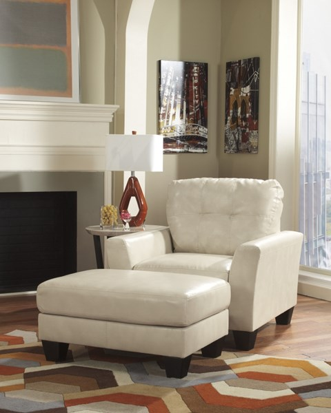 Paulie Durablend - Taupe Wood Chair And Ottoman Set 2700014-CAO