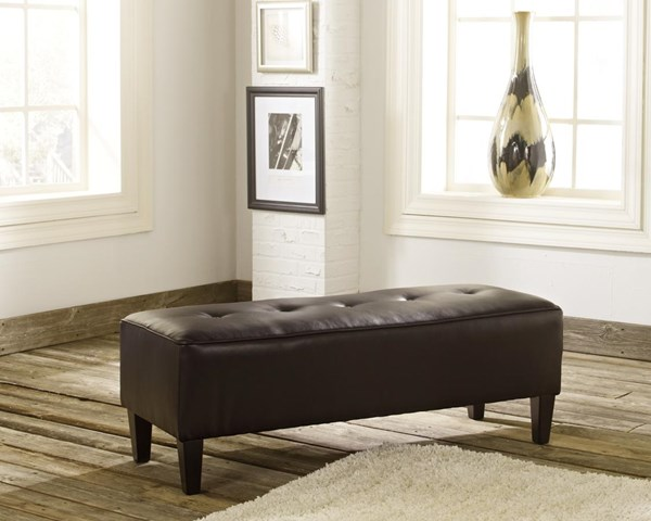 Sinko Transitional Chocolate Oversized Accent Ottoman 2810408