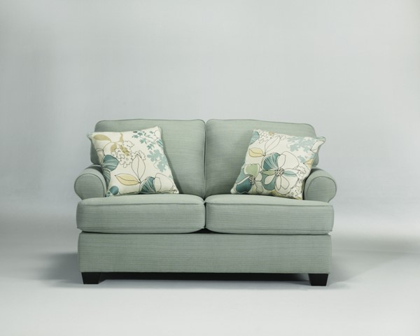 Daystar Contemporary Seafoam Fabric Loveseat 2820035