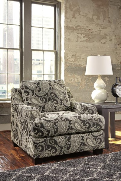 Gypsum Urbanology Charcoal Fabric Accent Chair 2850122