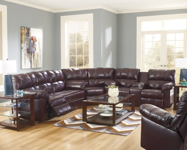 Kennard Contemporary Burgundy Leather Living Room Set 2900-LR-VAR