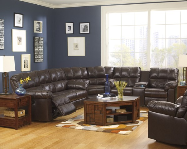 Kennard Contemporary Chocolate Leather Sectional 2900125-SEC