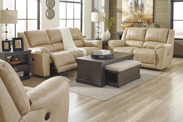 Yancy Contemporary Galaxy Grain Leather Vinyl 3pc Living Room Set 29202-LR-S1