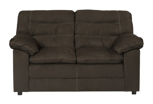 Talut Contemporary Cafe Fabric Wood Pillow Top Arms Loveseat 2990035