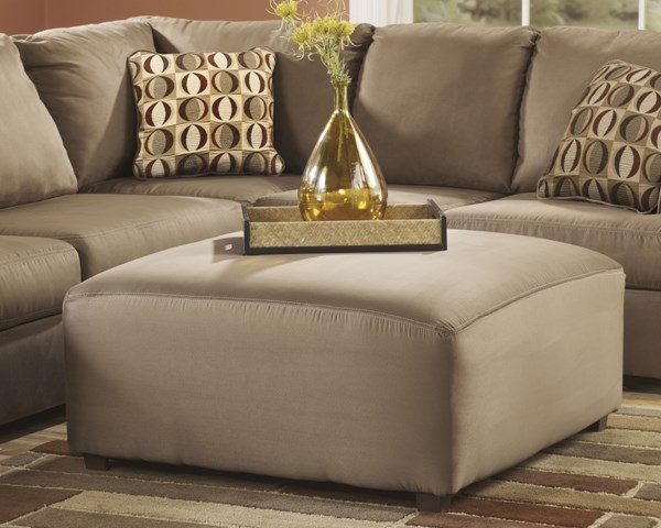 Cowan Contemporary Mocha Polyester Oversized Accent Ottoman 3070308