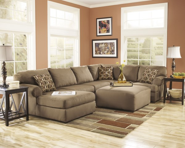 Cowan Contemporary Mocha Polyester 4pc Sectionals 30703-SEC-S