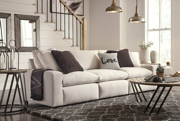 Ashley Furniture Savesto Ivory Sofa The Classy Home