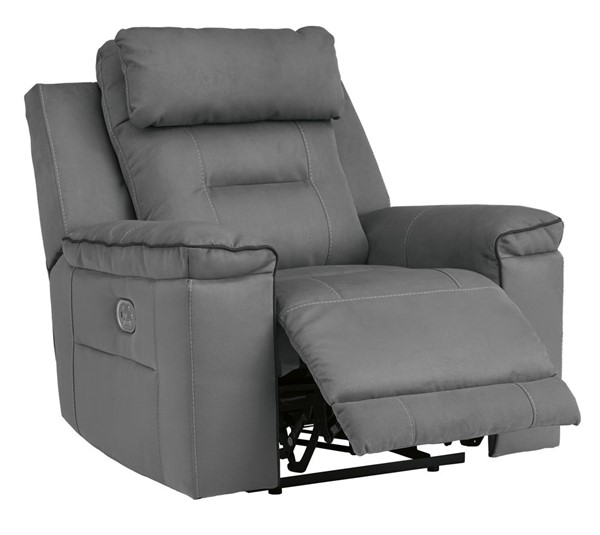 Ashley Furniture Trampton Smoke Power Recliner With Adjustable Headrest 3130313