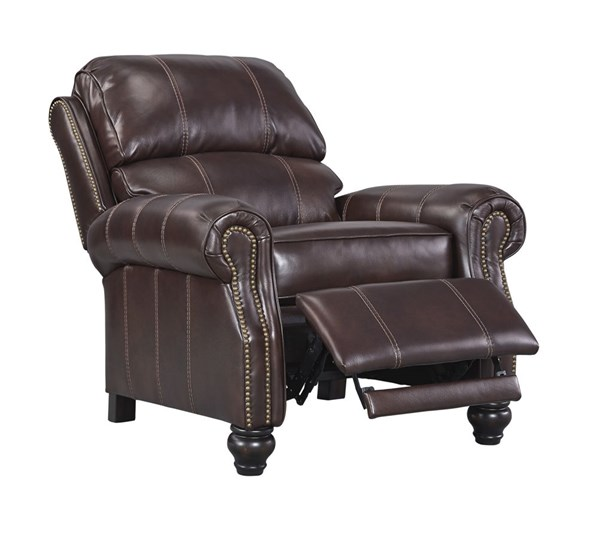 Glengary Traditional Chestnut Leather Low Leg Recliner 3170030