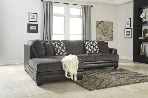 Kumasi Contemporary Smoke PVC RAF SOFA 3220267