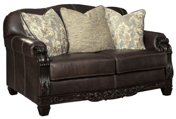 Ashley Furniture Embrook Chocolate Loveseat 3250135