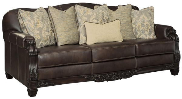 Ashley Furniture Embrook Chocolate Sofa 3250138