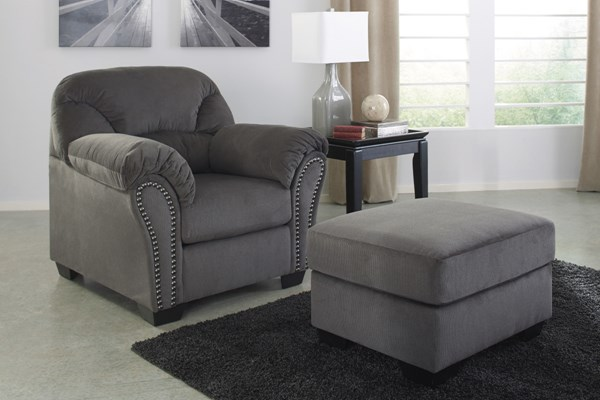 Kinlock Contemporary Charcoal Chair & Ottomans Set 33400-CHO