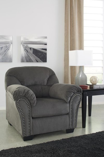 Kinlock Contemporary Charcoal Pillow Top Arms & Cushion Back Chair 3340020
