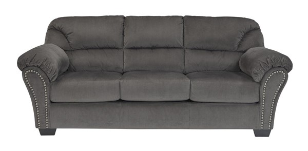 Kinlock Contemporary Charcoal Pillow Top Arms & Cushion Back Sofa 3340038