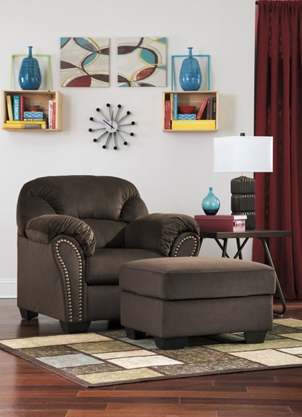 Kinlock Contemporary Chocolate Chair & Ottomans Set 33401-CHO