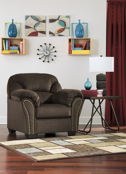 Kinlock Contemporary Chocolate Pillow Top Arms & Cushion Back Chair 3340120