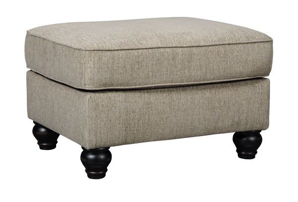Blackwood Traditional Taupe Fabric Ottoman 3350314