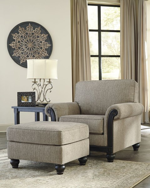 Ashley Furniture Blackwood Taupe Chair and Ottomans Set 33503-CHO