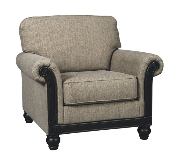 Blackwood Traditional Taupe Fabric Chair 3350320