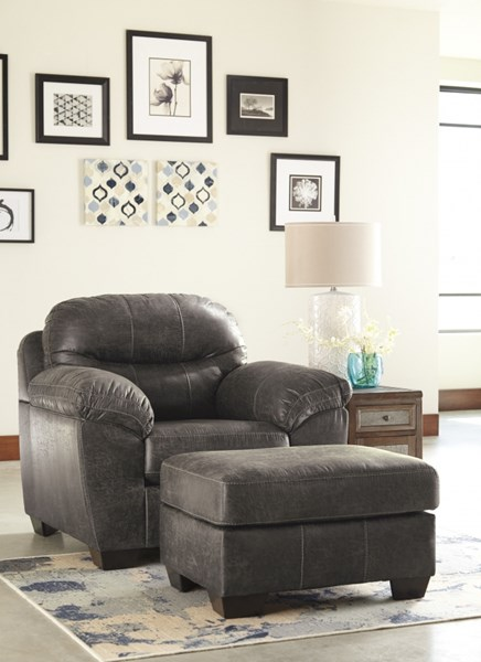 Havilyn Contemporary Charcoal Chair & Ottomans Set 33705-CHO