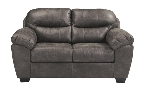 Havilyn Contemporary Charcoal Cushion Back Loveseat 3370535