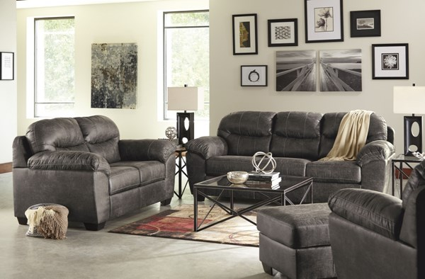 Havilyn Contemporary Charcoal Bustle Back 3pc Living Room Set 33705-LR-CH-S1