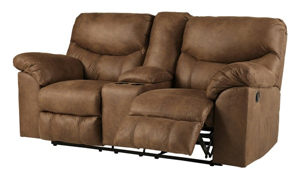 Ashley Furniture Boxberg Bark Double Recliner Loveseat With Console 3380294