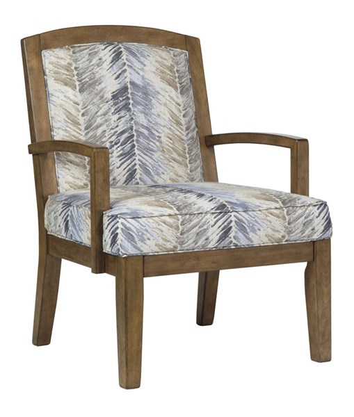 Hillsway Traditional Multi Fabric Wood Accent Chair 3410460