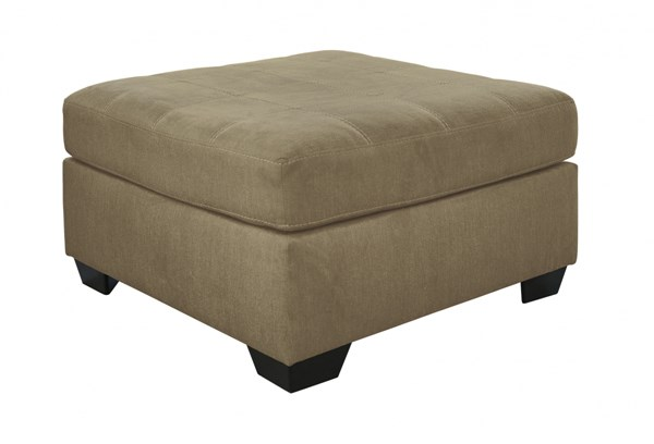 Pitkin Contemporary Mocha Fabric Wood Oversized Accent Ottoman 3490508